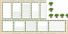 Oak Tree Themed Page Borders