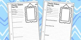 All About Charles Dickens Differentiated Fact File Activity Sheets