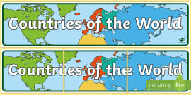 Countries of the World Display Banner