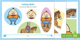 Humpty Dumpty Cutting Skills Activity Sheet