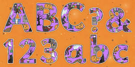 Halloween Themed Display Lettering