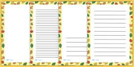 Autumn Leaves Page Borders