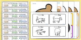 Brown Bear Brown Bear Lesson Plan and Enhancement Ideas EYFS