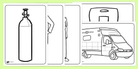Ambulance Service Colouring Pages