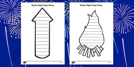Bonfire Night Shape Poetry Templates
