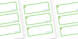 Frog Themed Editable Drawer-Peg-Name Labels (Blank)
