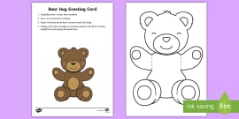 Mother's and Father's Day Bear Hug Greeting Cards