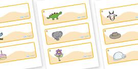 Angel Fish Themed Editable Drawer-Peg-Name Labels