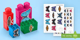 Butterfly Symmetry Matching Connecting Bricks Game