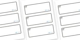 Zebra Themed Editable Drawer-Peg-Name Labels (Blank)