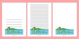 Loch Ness Monster Writing Frames