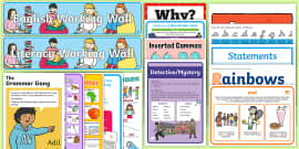 Y2 English Working Wall Display Pack