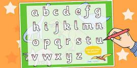 Dinosaur Themed Letter Writing Activity Sheet