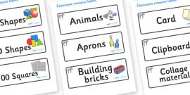 Zebra Themed Editable Classroom Resource Labels