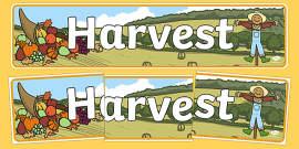 Harvest Display Banner