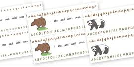 Alphabet Strips (Bears)