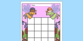 Fairy Themed Sticker Stamp Reward Chart
