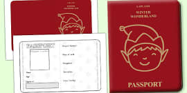 Australia - Elf Passport Writing Frame