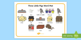 The Three Little Pigs Word Mat