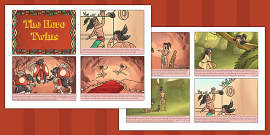 The Hero Twins Mayan Civilization Story Cards