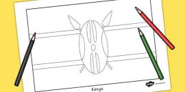 Kenya Flag Colouring Sheet