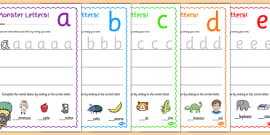 Monster Themed Letter Formation Activity Sheets