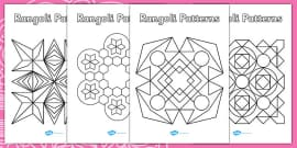 Rangoli Patterns Templates