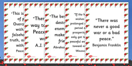 Peace Quotes Display Posters