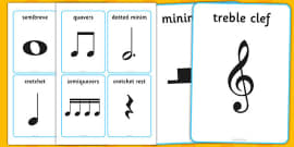 Music Notes Cards