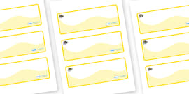 Busy Bee Themed Editable Drawer-Peg-Name Labels (Colourful)