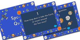 Space Quiz Plenary PowerPoint