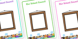 Editable School Council Member Display Posters