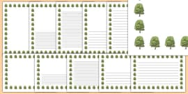 Ash Tree Themed Page Borders