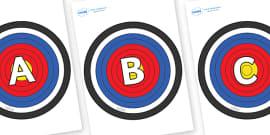 A-Z Alphabet on Plain Targets