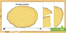 Pancake Fractions Activity to Support Teaching on Mr Wolf's Pancakes