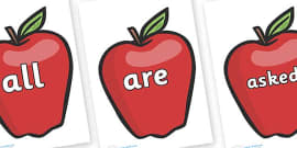 Tricky Words on Red Apples