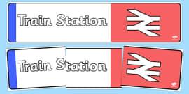 Train Station Display Banner