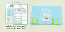 Handprint Chicken With Chicks Craft Instructions