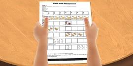 Call and Response Rhythm Activity sheet