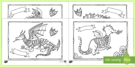 Dragons Mindfulness Colouring Sheets