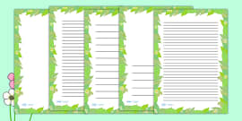 Spring Leaf Page Borders