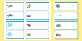 Editable Drawer-Peg-Name Labels to Support Teaching on The Rainbow Fish