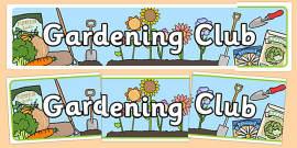 Gardening Club Display Banner