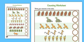 The Gruffalo Counting Sheet