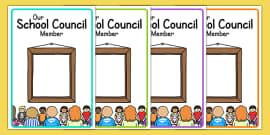 School Council Member Notice Board Posters