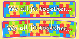 We All Fit Together Display Banner