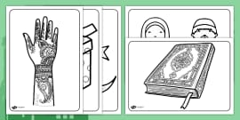Eid Colouring Sheets