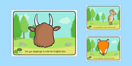 The Gruffalo Playdough Mats