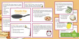 Year 5 Pancake Day Maths Challenge Cards