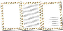 Lion Portrait Page Borders